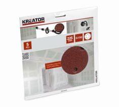 Kreator KRT232007 - 5ks Brusný kotouč 225 mm G150