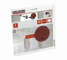 Kreator KRT232004 - 5ks Brusný kotouč 225 mm G60