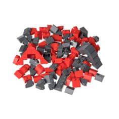 Kreativní set střešní prvky červená & tmavě šedá 120 ks