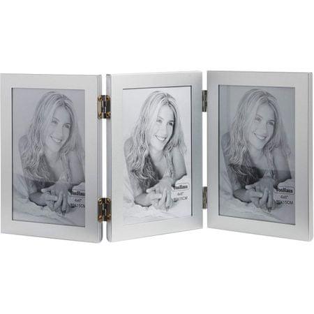 VonHaus foto okvir, za 3 slike, 10 x 15 cm, siv