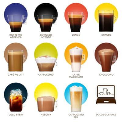 NESCAFÉ Dolce Gusto Espresso bohatá ponuka nápojov