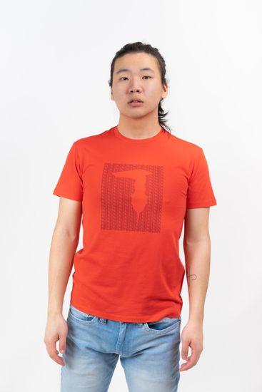 Trussardi Jeans pánske tričko 52T00311-1T003605 XXL červená