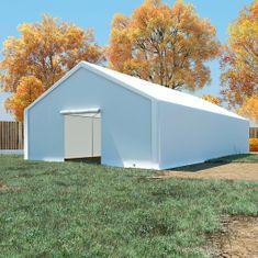 Skladovací stan, PE 6x12 m, biely