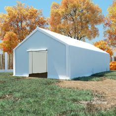 Namiot magazynowy, PE, 5 x 10 m, biały