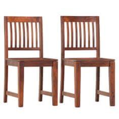 Vidaxl Jídelní židle 2 ks masivní mangovníkové dřevo