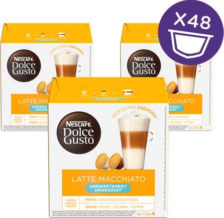 NESCAFÉ kawa w kapsułkach Dolce Gusto® Latte Macchiato Unsweetened trójpak