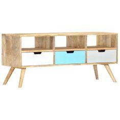 TV stolek 110 x 35 x 48 cm masivní mangovníkové dřevo