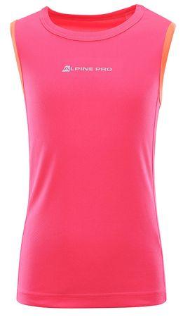 ALPINE PRO Takro 3 otroška majica brez rokavov, roza, 116–122