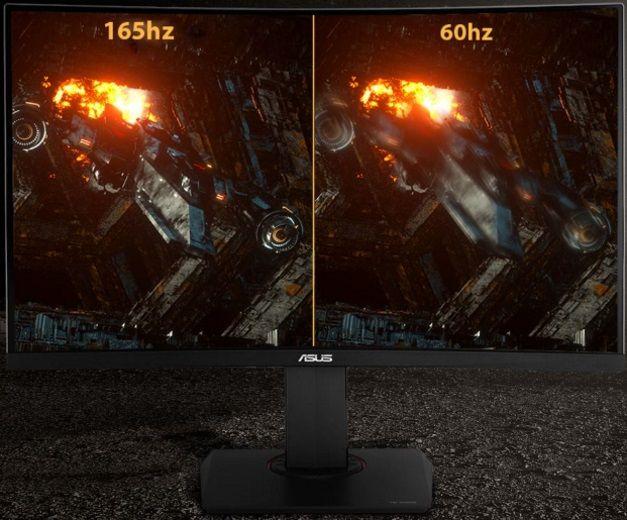 monitor gamingowy Asus TUF Gaming VG27AQ (90LM0500-B01370) G-Sync compatible full hd 165 hz bez drgań i zacięć