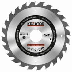 Kreator KRT020412 - Pílový kotúč na drevo 170mm, 24T