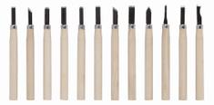 Kreator KRT461002 - Mini dláta na dřevo sada 12ks