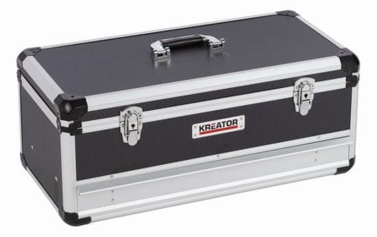 Kreator KRT640603B - Hliníkový kufr 620x300x255mm 1 zásuvka