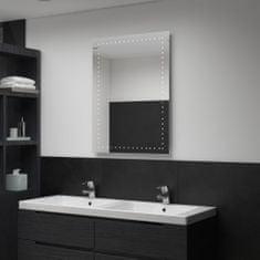 shumee Koupelnové nástěnné zrcadlo s LED osvětlením 60 x 80 cm