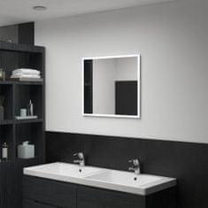 shumee Koupelnové nástěnné zrcadlo s LED osvětlením 60 x 50 cm