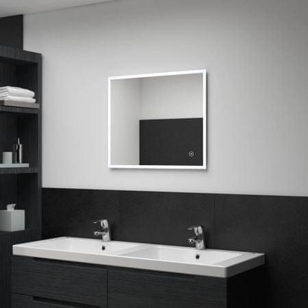 shumee LED-es fürdőszobai falitükör érintésérzékelővel 60 x 50 cm