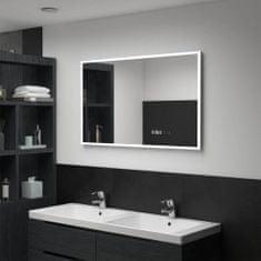 shumee Koupelnové LED zrcadlo dotykový senzor zobrazení času 100x60 cm