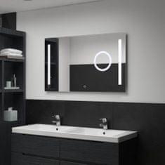 Petromila Koupelnové zrcadlo s LED světly a dotykovým senzorem 100x60 cm