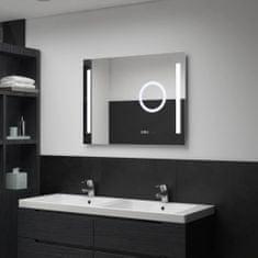 shumee Koupelnové zrcadlo s LED světly a dotykovým senzorem 80 x 60 cm