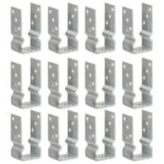 Plotové kotvy 12 ks stříbrné 7 x 6 x 15 cm pozinkovaná ocel