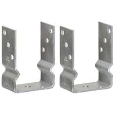 Plotové kotvy 2 ks stříbrné 10 x 6 x 15 cm pozinkovaná ocel