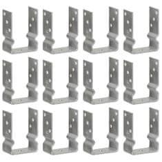 Plotové kotvy 12 ks stříbrné 10 x 6 x 15 cm pozinkovaná ocel