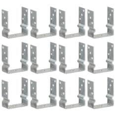 Plotové kotvy 12 ks stříbrné 12 x 6 x 15 cm pozinkovaná ocel