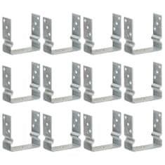 Plotové kotvy 12 ks stříbrné 14 x 6 x 15 cm pozinkovaná ocel