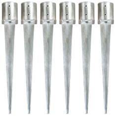 Kotvící hroty 6 ks stříbrné 12 x 91 cm pozinkovaná ocel