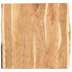 shumee Stolní deska masivní akáciové dřevo 60 x 60 x 3,8 cm