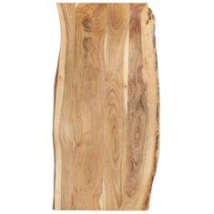 shumee Stolní deska masivní akáciové dřevo 120 x 60 x 2,5 cm