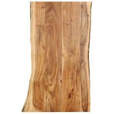 shumee Stolní deska masivní akáciové dřevo 100 x 60 x 2,5 cm