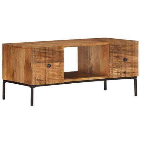 shumee tömör mangófa dohányzóasztal 90 x 45 x 40 cm