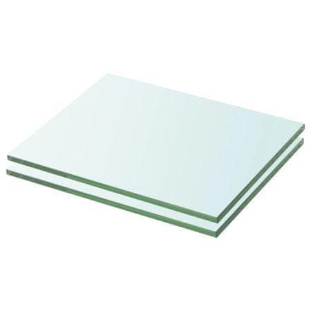 shumee 2 db átlátszó üveg paneles polc 20 x 20 cm