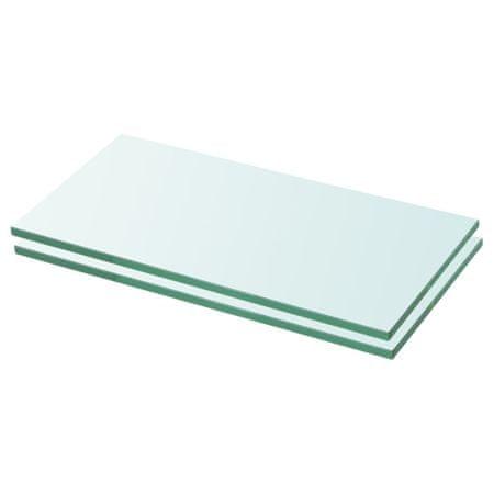 shumee 2 db átlátszó üveg paneles polc 20 x 30 cm