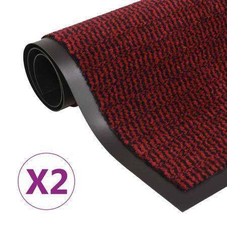 Wycieraczki, 2 szt., prostokątne, 60 x 90 cm, czerwone