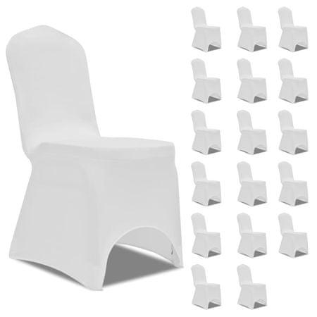slomart Prevleka za stol raztegljiva bela 18 kosov