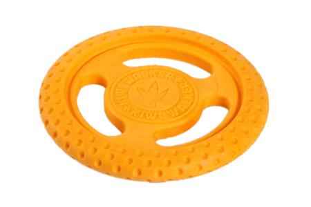 KIWI WALKER leteči in plavajoči frizbi iz TPR pene, oranžen, 22 cm