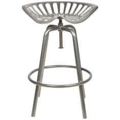 """Esschert Design Barová židle """"Traktor"""" šedá IH022"""