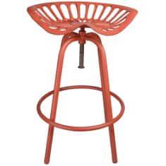 """Esschert Design Barová židle """"Traktor"""" červená IH024"""