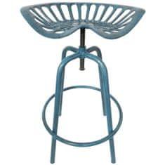 """Esschert Design Barová židle """"Traktor"""" modrá IH034"""
