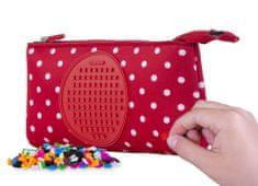Pixie Crew kreativna peresnica, rdeče barve z belimi pikami