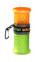 KIWI WALKER Butelka podróżna 2w1, pomarańczowo-zielona