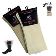 RS Dámské DIA bavlněné zdravotní rozšířené ponožky 2 Pack