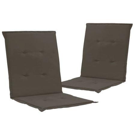 shumee 2 db antracitszürke párna kerti székhez 100 x 50 x 3 cm