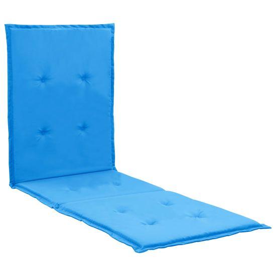 Podložka na ležadlo, modrá 180x55x3 cm