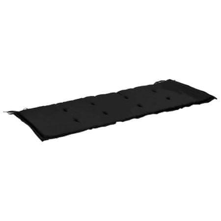 shumee Blazina za vrtno klop črna in siva 120x50x3 cm