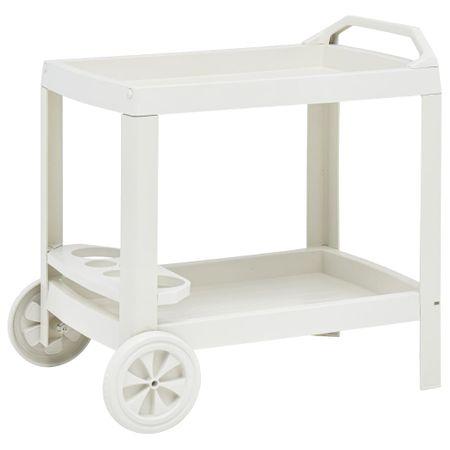 Wózek na napoje, biały, 69x53x72 cm, plastikowy
