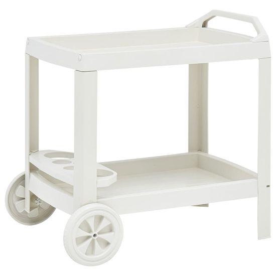 shumee Nápojový vozík bílý 69 x 53 x 72 cm plast