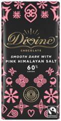 DIVINE Divine hořká čokoláda s himalájskou růžovou solí, 60 % kakaa, 90g