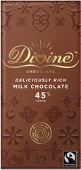 DIVINE Divine mléčná čokoláda, 45 % kakaa, 90g